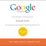 I'm Google Analytics Individual Certified Professional (GAIQ)