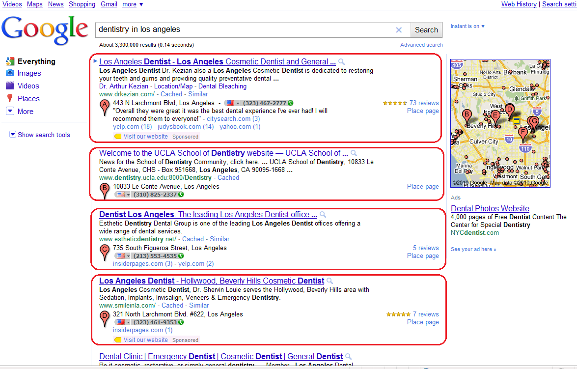 The above search result page is showing total 12 results on google s